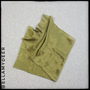 Accessories - Italian Silky Olive Green Scarf